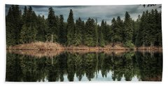Beach Towel featuring the photograph Across The Lake by Belinda Greb