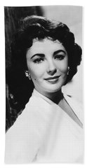 Actress Elizabeth Taylor Beach Towel
