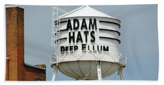 Beach Towel featuring the photograph Adam Hats In Deep Ellum by Charlie and Norma Brock