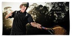 Adam Webster Tennis Athletic Portrait Beach Towel