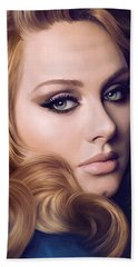 Adele Artwork  Beach Towel