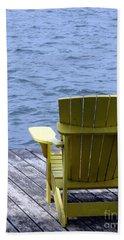 Adirondack Chair On Dock Beach Towel