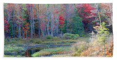 Beach Sheet featuring the photograph Adirondack Fall by Mariarosa Rockefeller