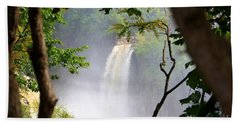 Beach Towel featuring the photograph Adirondacks Waterfall by Patti Whitten