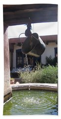 Beach Towel featuring the photograph Adobe Water Well In New Mexico by Dora Sofia Caputo Photographic Art and Design