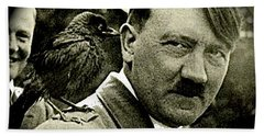Adolf Hitler And A Feathered Friend C.1941-2008 Beach Sheet