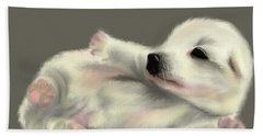 Adorable Pup Beach Towel