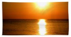 Aegean Sunset Beach Towel