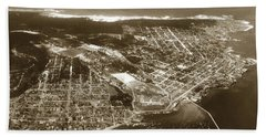 Aerial  Of Monterey Calif. Oct. 25 1934 Beach Towel