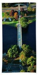 Aerial View Of Bridge Across Charles Beach Towel