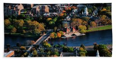 Aerial View Of Cambridge And Anderson Beach Towel