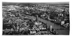 Aerial View Of London Beach Sheet by Mark Rogan