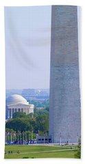 Aerial View Of Washington Monument Beach Towel