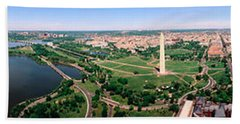 Aerial Washington Dc Usa Beach Towel by Panoramic Images