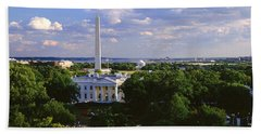 Aerial, White House, Washington Dc Beach Towel by Panoramic Images