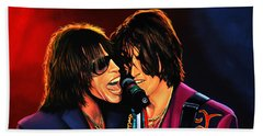 Aerosmith Toxic Twins Painting Beach Sheet by Paul Meijering