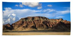 Aferican Grass And Mountain In Sossusvlei Beach Towel