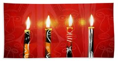 African Candles Beach Towel