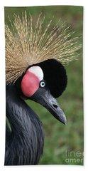 African Crowned Crane #2 Beach Sheet