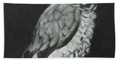 Beach Towel featuring the painting African Grey by Jeanne Fischer