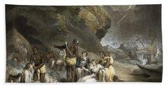 African Hospitality, Engraved By John Raphael Smith, 1791 Mezzotint Beach Towel