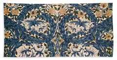 African Marigold Design Beach Sheet by William Morris