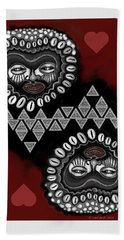 African Queen-of-hearts Card Beach Towel