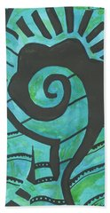 African Question Mark Beach Towel