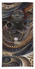 African Spirits I Beach Towel