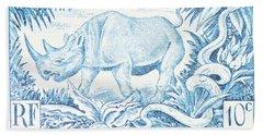 Afrique Rhino Beach Towel