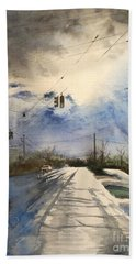 After Rain -on The Michigan Ave. Saline Michigan Beach Towel by Yoshiko Mishina