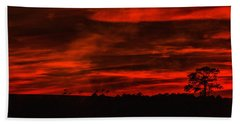 After Sunset Sky Beach Towel