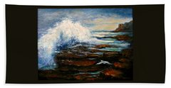 Beach Towel featuring the painting After The Storm by Gail Kirtz