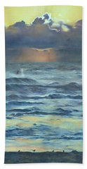 Beach Sheet featuring the painting After The Storm by Lori Brackett