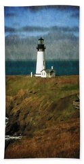 Afternoon At The Yaquina Head Lighthouse Beach Towel