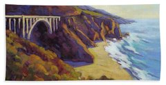Afternoon Glow 3 Big Sur Beach Towel