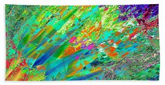 Beach Sheet featuring the digital art Agave Explosion by Stephanie Grant
