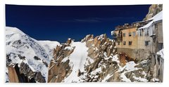Beach Sheet featuring the photograph Aiguille Du Midi -  Mont Blanc Massif by Antonio Scarpi