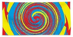 Aimee Boo Swirled Beach Sheet by Catherine Lott
