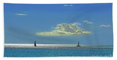 Beach Towel featuring the photograph Air Beautiful Beauty Blue Calm Cloud Cloudy Day by Paul Fearn