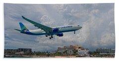 Air Caraibes At St. Maarten Beach Towel