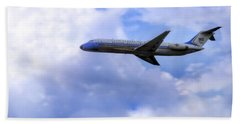 Air Force One - Mcdonnell Douglas - Dc-9 Beach Towel by Jason Politte
