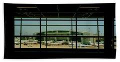 Airport Viewed Beach Towel