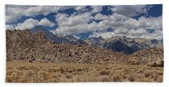Alabama Hills And Eastern Sierra Nevada Mountains Beach Towel by Peggy Hughes