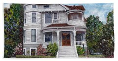 Alameda 1897 - Queen Anne Beach Towel by Linda Weinstock