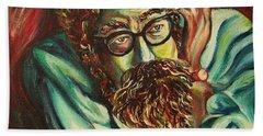 Alan Ginsberg Poet Philosopher Beach Towel