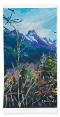 Alaska Autumn Beach Towel