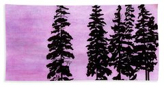 Beach Towel featuring the drawing Colorful - Alaska - Sunset by D Hackett