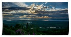 Alaskan Summer Sunset Beach Towel