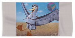 Albatross Landing Beach Towel by Susan Williams